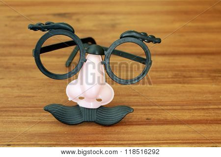 Goofy mask with Eyeglasses, nose, and mustache