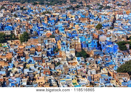 Aerial view of Jodhpur, also known as