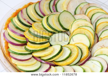 sliced vegetable casserole