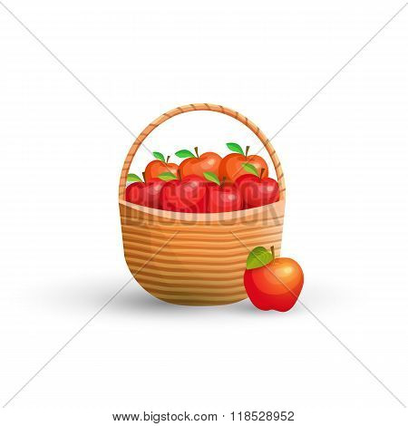 Basket with red apples