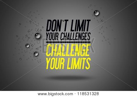 Don't Limit Your Challenges - Challenge Your Limits - Workout Motivation - Fitness Center - Motivati