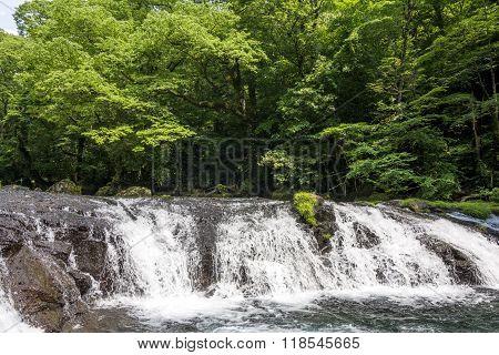 River over rock step