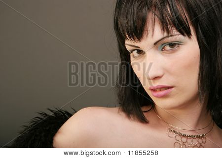 Beautiful sexy woman portrait