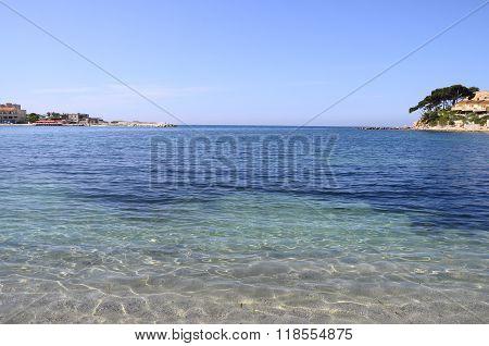 Sand Beach In Bandol, France