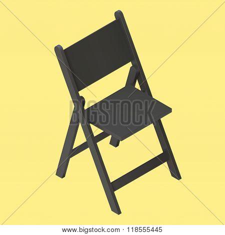 black foldable isometric stool vector