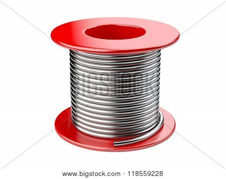 Red Coil With Wire.