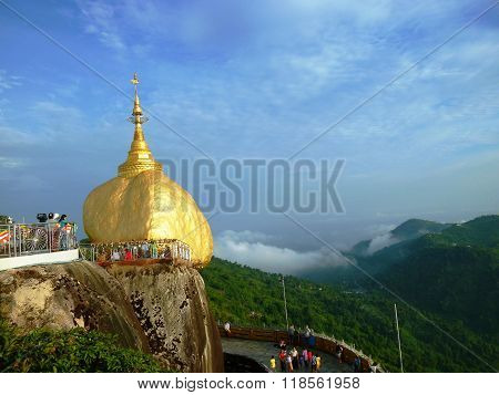 Golden Rock and Clear Sky, Myanmar