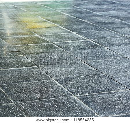 In   Asia  Bangkok Thailand   Pavement Cross Stone Step The Temple