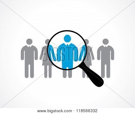 search for employees. recruitment. vector icon eps8 poster