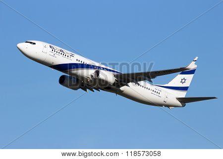 4X-ehe El Al Israel Airlines Boeing 737-958(er)(wl)