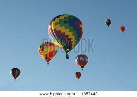 Hot air balloons at the festival