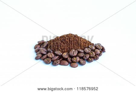 Black Coffee Small And Large Grains