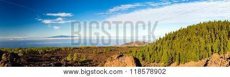 Mountains Beautiful Inspirational Landscape Panorama, Islands And Ocean