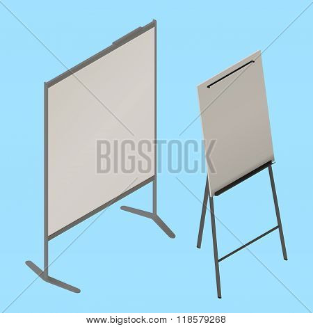 flip chart whiteboard isometric vector
