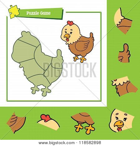 Puzzle game hen