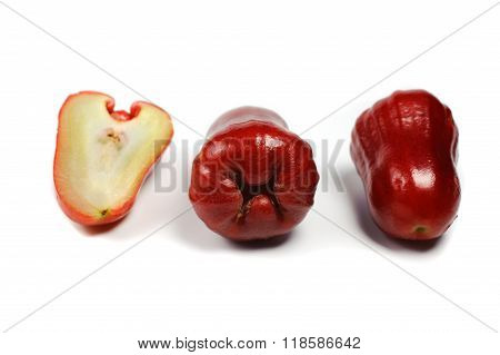 Rose Apple Or Chomphu Isolated On White Background