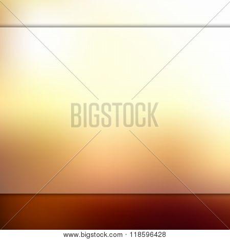 Glass on blurred orange background