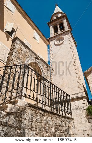 Tower In Budva, Montenegro Old Town