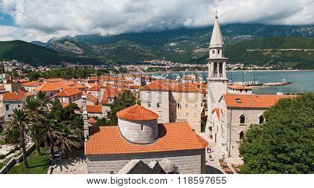 Panoramic View On Budva, Montenegro