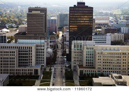 Aerial Baton Rouge Louisiana USA, North America. poster