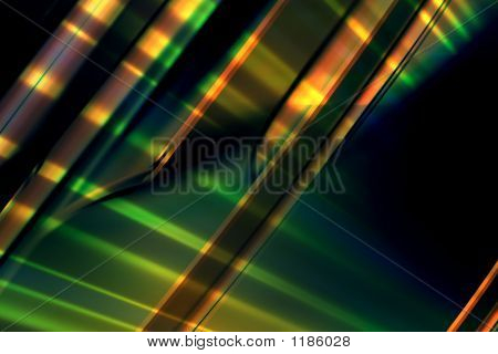 Abstract Green Lines