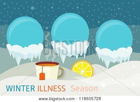 Winter Illness Season People Design