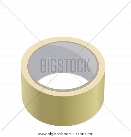 Realistic Illustration Of Adhesive Tape