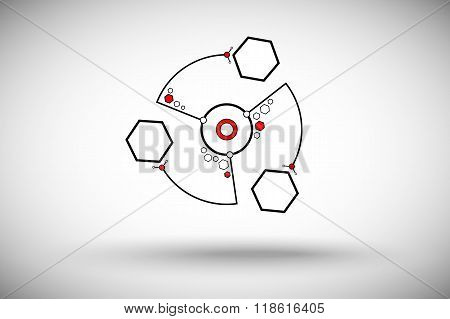 Three Cells In The Form Of A Circle