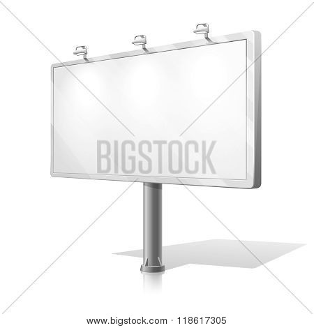 White billboard vector