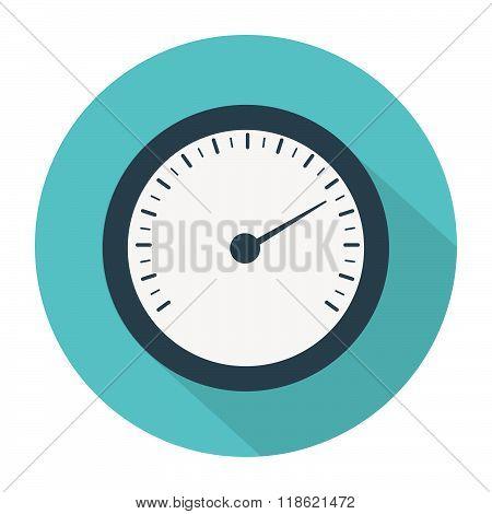 Manometer set, pressure and Temperature gauge set icons. Vector illustration