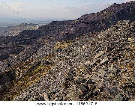 Dinorwig slate mines.