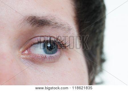 Macro Shot Of A Male Model Eye Lashes