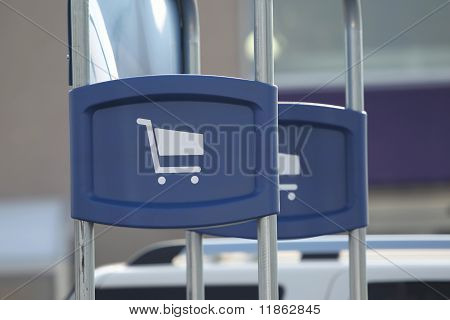 Shopping Cart Station Sign