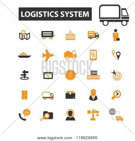 delivery icons, delivery logo, logistics icons vector, logistics flat illustration concept, logistics infographics elements isolated on white background, logistics logo, logistics symbols set, cargo