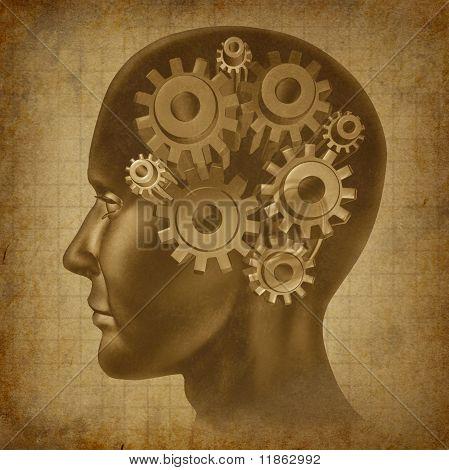 intelligence brain function mind ancient grunge old medical