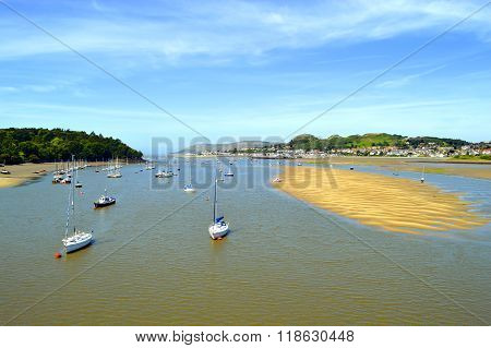 Scenic river Conwy in North Wales