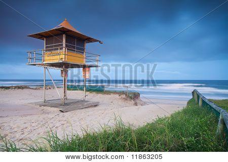 Lifeguard Hut On Australian Beach
