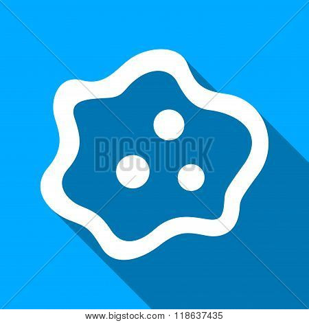 Amoeba Flat Long Shadow Square Icon