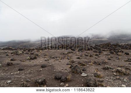 Moon Landscape On Mt. Kilimanjaro