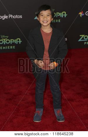 LOS ANGELES - FEB 17:  Ian Chen at the Zootopia Premiere at the El Capitan Theater on February 17, 2016 in Los Angeles, CA