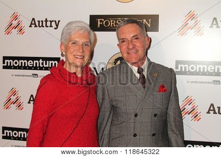 LOS ANGELES - FEB 16:  Mary Beth West, W. Richard West Jr at the Forsaken Los Angeles Special Screening at the Autry Museum of the American West on February 16, 2016 in Los Angeles, CA