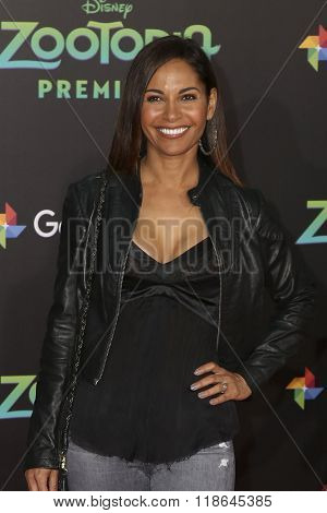 LOS ANGELES - FEB 17:  Salli Richardson Whitfield at the Zootopia Premiere at the El Capitan Theater on February 17, 2016 in Los Angeles, CA