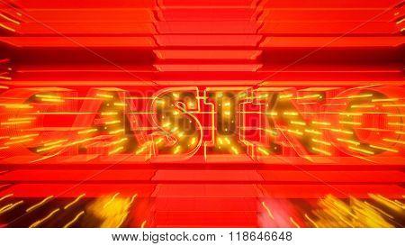 Word Casino In Neon Lights Zoom In