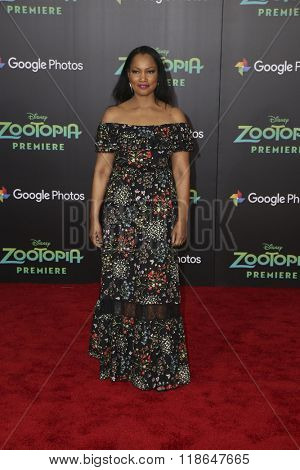 LOS ANGELES - FEB 17:  Garcelle Beauvais at the Zootopia Premiere at the El Capitan Theater on February 17, 2016 in Los Angeles, CA