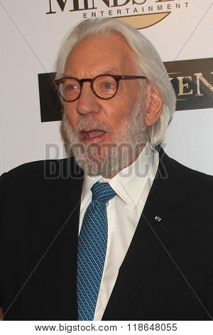 LOS ANGELES - FEB 16:  Donald Sutherland at the Forsaken Los Angeles Special Screening at the Autry Museum of the American West on February 16, 2016 in Los Angeles, CA