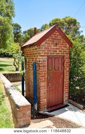 Freestanding Outhouse: Azelia Ley Homestead