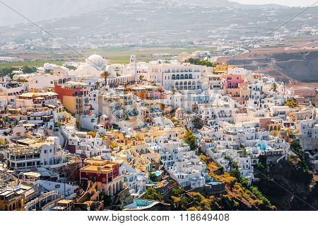 View on Thira town at Santorini island
