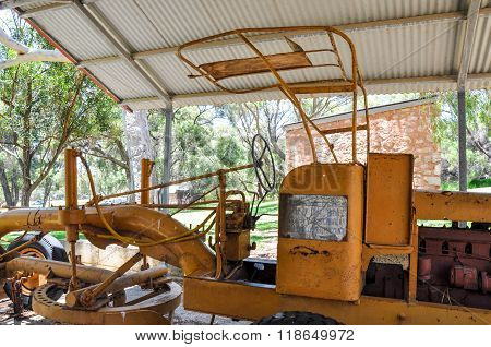 Antique Yellow Tractor