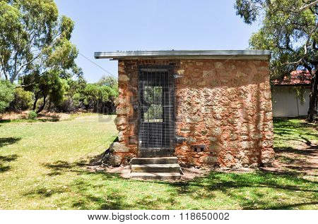 Limestone Outbuilding at Azelia Ley Homestead