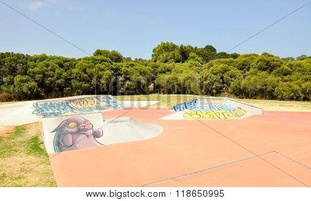 Skateboarding Recreation Park